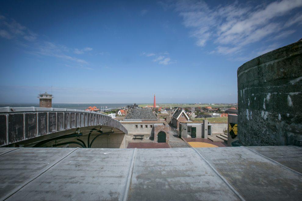 Prachtig uitzicht vanaf Fort Kijkduin