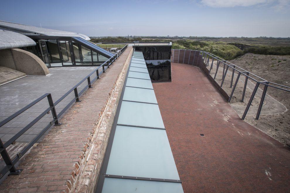 Eén van de nieuwe bastions van Fort Kijkduin